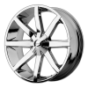 KMC KM651 Slide 26X10 Chrome Plated