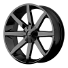 KMC KM651 Slide 24X9.5 Gloss Black With Clearcoat