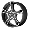 KMC KM663 Swindle 17X7.5 Matte Black Machined