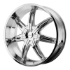 KMC KM665 Surge 26X10 Chrome Plated