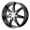 KMC KM665 Surge 24X9.5 Gloss Black Machined