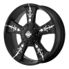 KMC KM668 Vandal 22X9 Matte Black With Machined Face