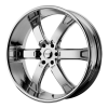 KMC KM671 Brodie 24X9.5 Chrome Plated