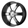 KMC KM671 Brodie 24X9.5 Matte Black Machined