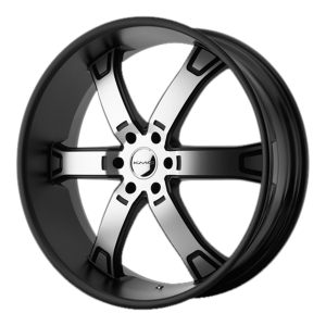 KMC KM671 Brodie Matte Black Machined