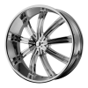 KMC KM672 Widow 24X9.5 Chrome Plated