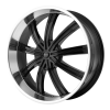 KMC KM672 Widow 22X9.5 Gloss Black With Machined Face
