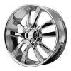 KMC KM673 Skitch 24X9.5 Chrome Plated