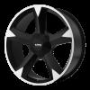 KMC KM674 Clone 24X9.5 Black