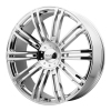 KMC KM677 D2 24X9.5 Chrome Plated