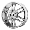 KMC KM678 Splinter 24X9.5 Chrome Plated