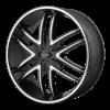KMC KM678 Splinter 24X9.5 Gloss Black With Milled Spokes