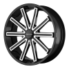 KMC KM681 Nerve 24X9 Gloss Black Machined