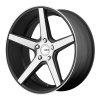 KMC KM685 District 22X10.5 Satin Blackwith Machined Face And Register