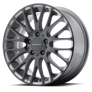 KMC KM693 Maze 18X8 Pearl Gray with Gloss Black Face