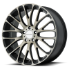 KMC KM693 Maze 17X7 Satin Black with Machined Face and Tinted Clear
