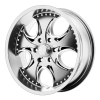 KMC KM755 Venom 17X8 Chrome Plated