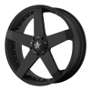 KMC KM775 Rockstar Car 17X7.5 High Temp Matte Black Coated