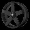 KMC KM775 Rockstar Car 18X8 High Temp Matte Black Coated