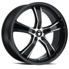 Konig Airstrike 17X8 Black Machined