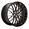Konig Lace 18 Gloss Black Machined Face