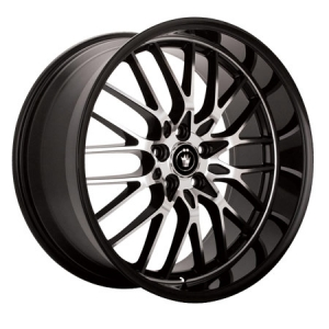Konig Lace Gloss Black Machined Face