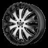 Lorenzo WL29 20X10 Gloss Black With Machined Face