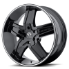 Lorenzo WL30 20X8.5 Gloss Black w- Machined Pin Stripe