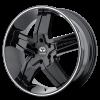 Lorenzo WL30 24X9.5 Gloss Black w- Machined Pin Stripe