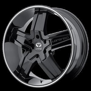 Lorenzo WL30 Gloss Black w- Machined Pin Stripe