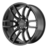 Lorenzo WL36 20X8.5 Gloss Black With Milled Accents