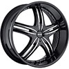 MKW Type 105 Black 20 X 8 Inch Wheel