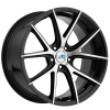 Mach M15 20X9.5 Black with Machined Face