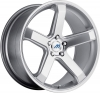 Mach M5 17X7.5 Hyper Silver Machined