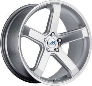 Mach M5 19X8.5 Hyper Silver Machined