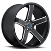 Mach M5 17X7.5 Satin Black Machined