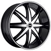 Strada Magia Black with Machined Face 22 X 8.5 Inch Wheels