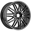 Menzari Noire Z10 Black Machined Wheel Packages