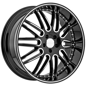 Menzari Noire Z10 Black Machined  22 X 9.5 Inch Wheels