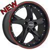 Menzari Viaggio Z11 Black with Red Stripe 20 X 8.5 Inch Wheels