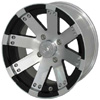 Vision 158 Buckshot Black Machined 14 X 7 Inch Wheels