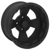 Vision 161 Bruiser Machined Black 12 X 7 Inch Wheels
