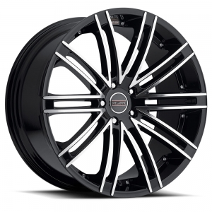 Milanni  9032 Khan 22X10.5 Gloss Black Mirror Machined Face