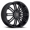 Milanni  9032 Khan 20X9 Satin Black