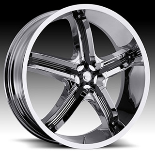 Milanni Bel Air5 459 Chrome Black Accents Wheel Packages