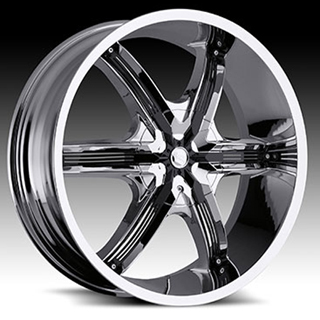 Milanni Bel Air6 460 Chrome Black Accents Wheel Packages