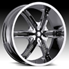 Milanni Bel Air6 460 Chrome Black Accents 24 X 9.5 Inch Wheels