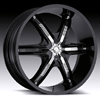 Milanni Bel Air6 460 Gloss Black Chrome Accents 24 X 9.5 Inch Wheels