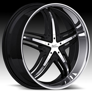Milanni Force 457 Gloss Black Machined Lip Wheel Packages