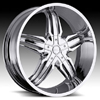 Milanni Phoenix Type 458 Chrome 28 X 9.5 Inch Wheels